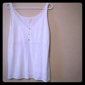 Eileen Fisher knit 100% linen tank top size L